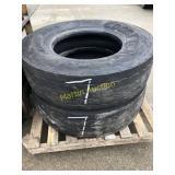 Pallet w/ 315/80R 22.5 Tires (2)