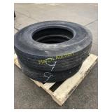 Pallet w/ 11R 22.5 Tires (2)