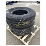 Pallet w/ 425/65R 22.5 Heavy Tires (2)
