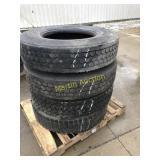 Pallet  w/11R 22.5 Tires (4)