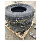 Pallet w/ 425/65 22.5 Heavy Tires (2)