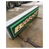 Old Big Foot Sign 2x8
