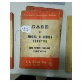 Case operators instruction manuals Model D series