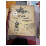 Case Model 65 combine parts catalog.
