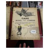 Case Model 77 combine parts catalog number 623