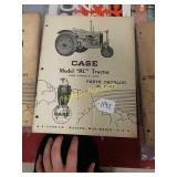 Case model RC tractor parts catalog number c-182