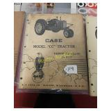 Case Model CC tractor parts catalog number e-170