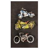 Vintage Harley Davidson 1:18th scale motorcycles
