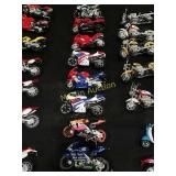 8-Honda Maisto toy motorcycles 1:18th scale.