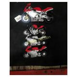 4-MV Augusta toy motorcycles.  By New Ray and