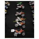 6-KTM motorcycles 1:18th scale