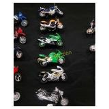6-Kawasaki toy motorcycles 1/18th scale i
