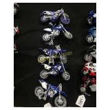 5-Yamaha toy motorcycles 1:18th scale