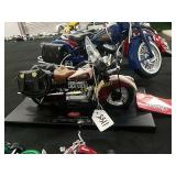 1942 442 Indian motorcycle toy 1:10th scale by