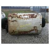 Pile with 2 mobile home axles, tongue,