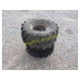 set of 2 trencher tires and wheels ++