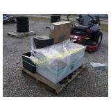 pallet of misc, battery charger ++
