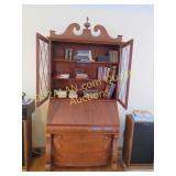 Antique Library Desk, 88Hx40Wx21D