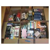 6 boxes of VHS/DVD movies, preview to see all titl