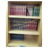 3 shelves of Harvard Classics books