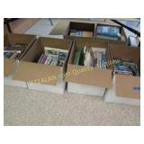 6 boxes of books under the table