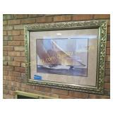 Sialboat pic, nice frame, 27H x 34W