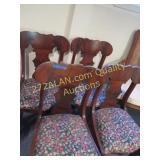 4 Dark Wood Chairs