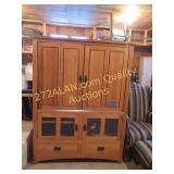 Mission TV Cabinet, 66H x 34W x 23D