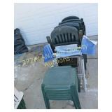 Outdoor Chair Group, on side of garage
