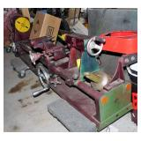 Lathe with Wooden Cabinet Stand
