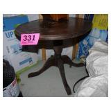 Oval Pedestal Side Table