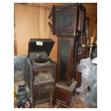 Phonograph & Grandfather Clock For Parts