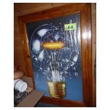 Light Bulb Poster Framed Art
