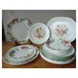 "Corelle by Corning Floral Dishes & 12"" Platter"
