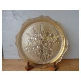 Iris Carnival Glass Serving Plate