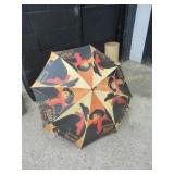 Art Umbrella in Homemade Stand