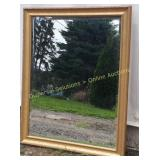 Gold Toned Framed Mirror