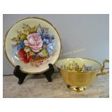 Aynsley Cup & Saucer signed J.A. Bailey