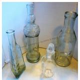 Glass Bottles X4