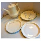Handmade Teapot & Plates