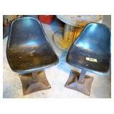 Vintage Fiberglass Chairs x2