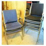 Stacking Arm Chairs x6