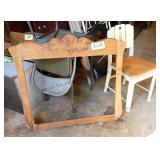Oak Mirror Frame & Chair
