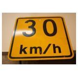 30 KM Metal Sign 17.75 x 17.75