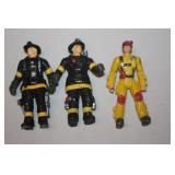 3 Fire Fighter Figures