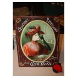 Tin Coca Cola Sign 12.5 x 16