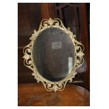 Brass Framed Mirror 14.5 x 18