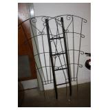2 Metal Trellis & a Ladder
