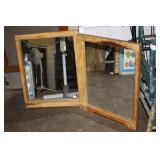 2 Vintage Window Frame Mirrors