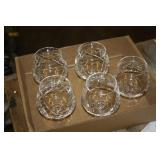 Pinwheel Crystal Brandy Glasses